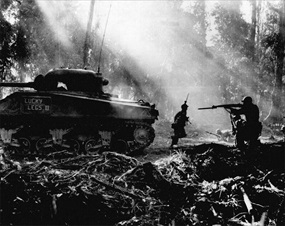 Bougainville Campaign: U.S. Marines clear perimeter of infiltrators
