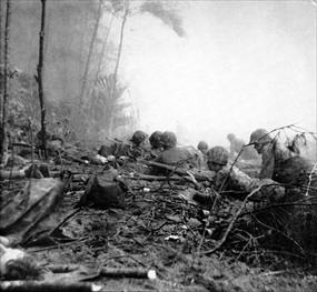 Bougainville Campaign: U.S. Marines hit Bougainville Blue Beach 3