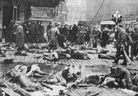 V-2 explosion, central Antwerp, November 27, 1944