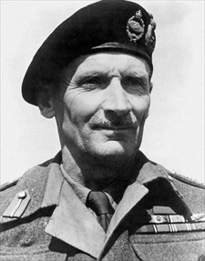 Wartime photo of Bernard Law Montgomery, 1887–1976
