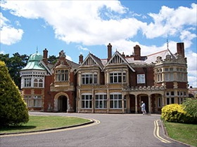 Bletchley Park in Buckinghamshire, England, headquarters of Britain's Government Code and Cypher School