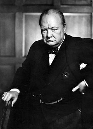 Karsh's portrait of Churchill, Ottawa, December 30, 1941