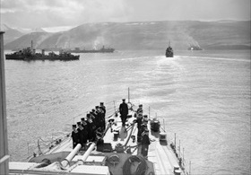 Hvalfjord Allied naval base, Iceland, late June 1942