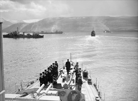 Battle of the Atlantic: Convoy PQ-17 assembling in Iceland, mid-1942