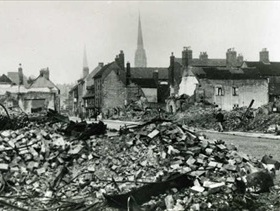 Little Park Street, Coventry, several weeks after the raid