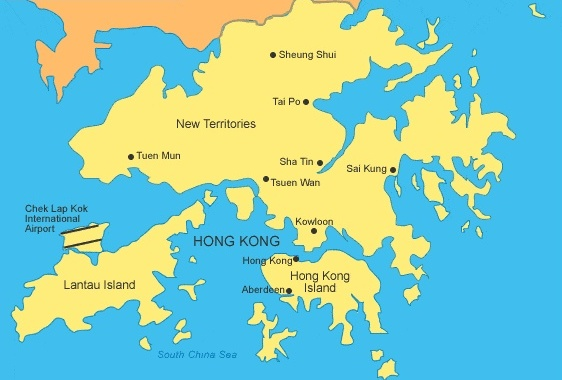 Fall of Hong Kong: Map of British Hong Kong