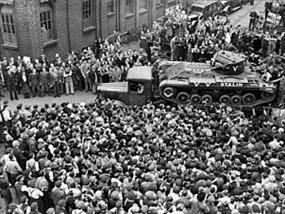 British-built Valentine tank bound for Soviet Union