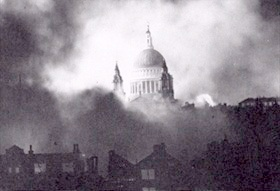 London's St Paul's Cathedral survives, December 29, 1940