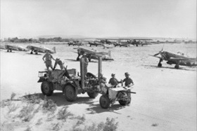 Australian troops at Aleppo airfield, Syria, June 1941