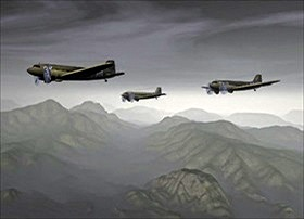 "Three C-47s flying over the ""Hump"""