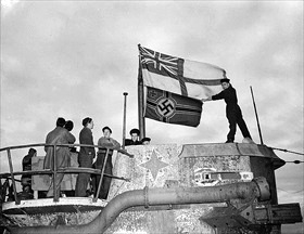 St. George's Ensign flies over U-boat
