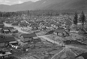 Japanese Canadian internment camp, British Columbia, June 1945
