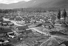 Japanese internment camp, British Columbia, June 1945
