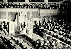 First Washington Conference: Churchill addressing Canadian Parliament, December 30, 1941