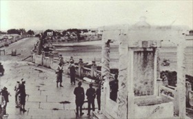 Japanese forces at captured Marco Polo Bridge, July 1937