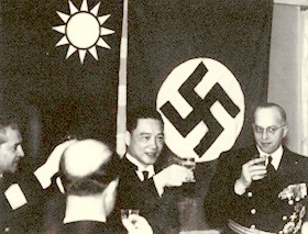 Wang Jingwei and German ambassador to Nanjing, Heinrich Georg Stahmer, 1941 or 1942