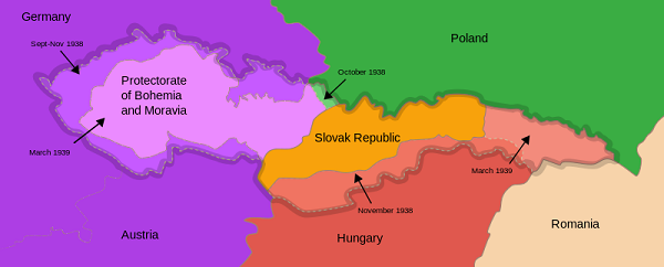 Constituent parts of Czechoslovakia, 1938