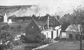 Lidice burning, June 1942