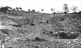 Lidice leveled, June 1942
