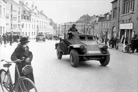 German armored radio car, April 1940