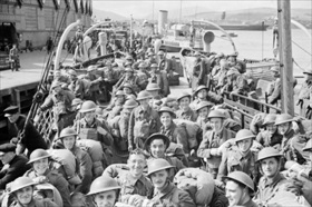 Returning British troops