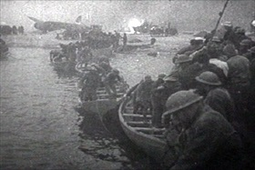 Rescued British troops, Dunkirk, France, 1940