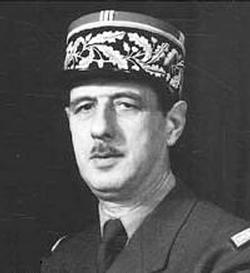 Wartime photo of Charles de Gaulle, 1890–1970