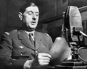 De Gaulle broadcasting to Free French, London, October 10, 1941