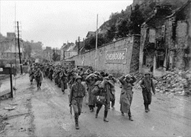 German prisoners at Cherbourg, end of June 1944