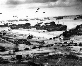 LSTs in Normandy, June 1944