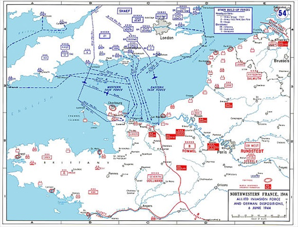 Allied invasion beaches, Normandy, France, June 1944