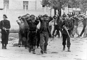 Captured French Resistance members, July 1944