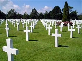 Gravestones, Normandy American Cemetery and Memorial