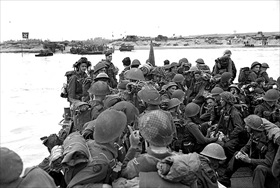 Royal Canadian Navy commandos, Juno Beach, June 6, 1944
