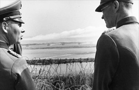 Rommel (left) near Sword Beach, end of May 1944