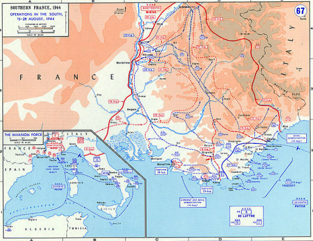 Operation Dragoon, Allied invasion of Southern France, August-September 1944