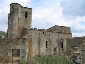 German reprisal killings: Oradour-sur-Glane Church, site of German atrocity, June 10, 1944