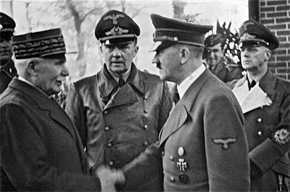 Philippe Pétain and Adolf Hitler at Montoire, France, October 24, 1940