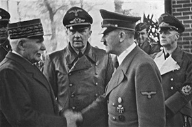 Hitler and Marshal Philippe Pétain, Montoire, October 24, 1940
