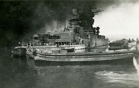 Strasbourg at Toulon, November 28, 1942