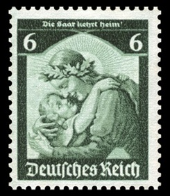German 6 Pfennig stamp, 1935