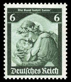 German 6 Pfennig stamp, 1935