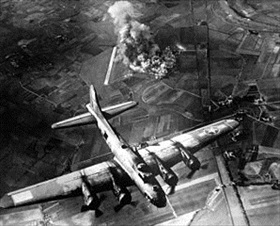 B-17s dropping ordinance