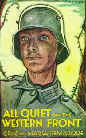 "Movie poster for Erich Maria Remarque's ""All Quiet on the Western Front,"" 1930"