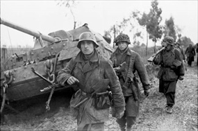 German soldiers contest Allies at Anzio, early 1944