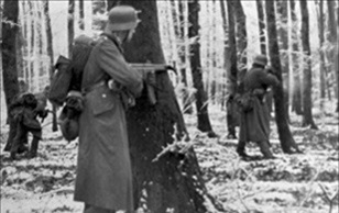Battle of the Bulge (Ardennes Campaign): German grenadiers in Luxembourg, December 1944