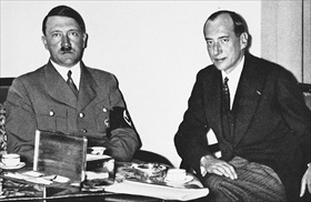 Hitler and Polish Foreign Minister Józef Beck, 1937