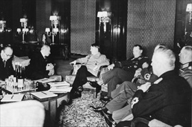 Partition of Czechoslovakia: Hitler and Hácha on eve of German invasion