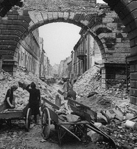 Allied air campaign over Germany: Berlin streetscape