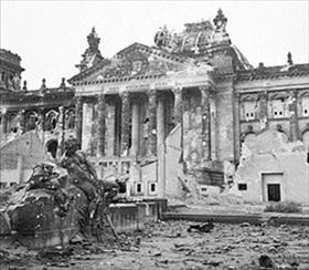 Reichstag building, Berlin 1945
